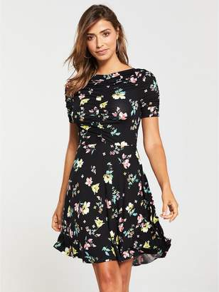 Very Ruched Jersey Dress - Printed