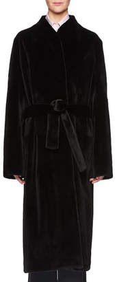 The Row Paret Belted Long Mink Fur Coat