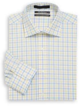 Saks Fifth Avenue Classic-Fit Check Cotton Dress Shirt