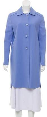 Ermanno Scervino Collard Knee-Length Coat w/ Tags