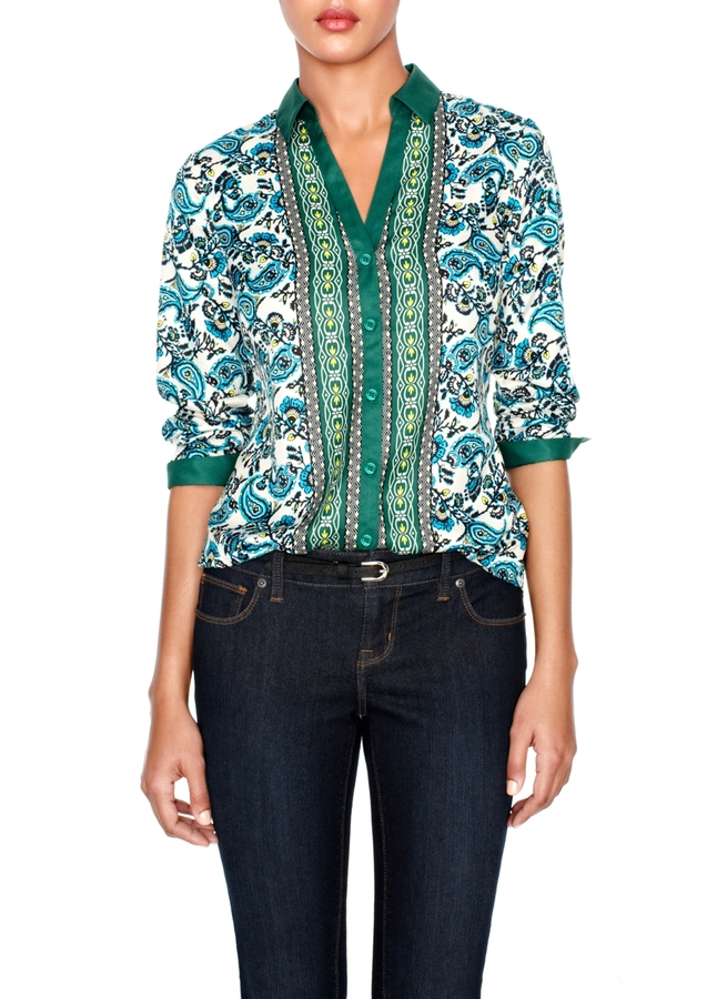 The Limited Silky Paisley Print Blouse