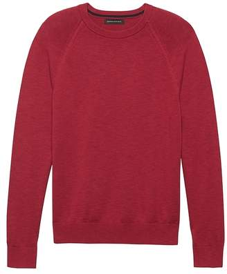 Banana Republic Textured Cotton Crew-Neck Sweater
