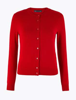 M&S CollectionMarks and Spencer PETITE Round Neck Cardigan