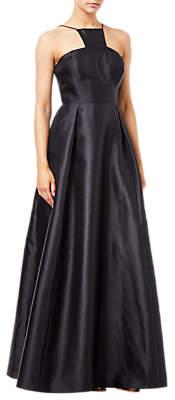 Adrianna Papell Mikado Long Dress, Black