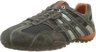 Geox Men's U Snake K Sneakers, Dk Grey/Off White