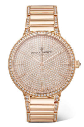 Vacheron Constantin Patrimony 36.5mm Small 18-karat Rose Gold Diamond Watch
