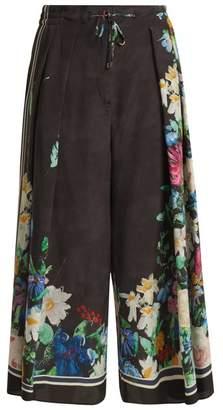 Max Mara Bull Silk Trousers - Womens - Black Multi