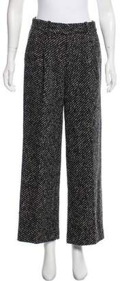 Theory Wool High-Rise Wide-Leg Pants