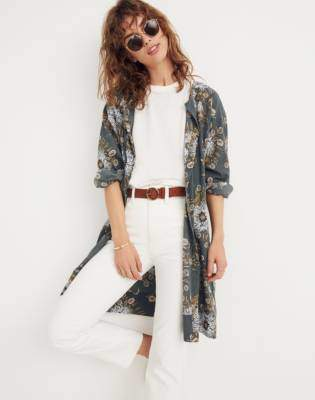Madewell Robe Jacket in Painted Blooms