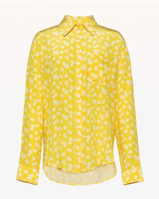 Juicy Couture Ditsy Daisy Silk Button Front Blouse