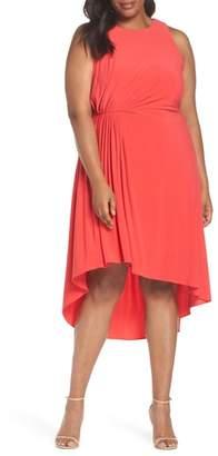 Adrianna Papell Asymmetrical Matte Jersey Dress