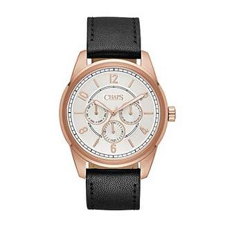 Chaps Men's 'Bransen' Quartz Stainless Steel and Leather Casual Watch