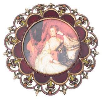 Jay Strongwater Embellished Round Picture Frame