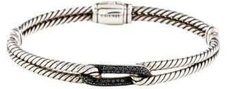 David Yurman Black Diamond Petite Pavé Labyrinth Loop Bracelet