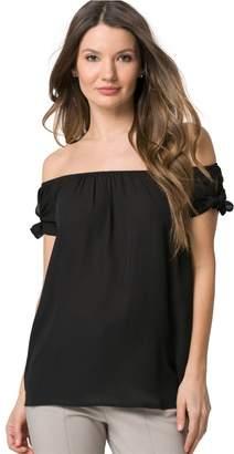 Le Château Women's Off-The-Shoulder Tie Blouse,M