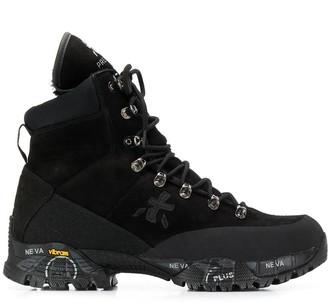 Premiata White midi treck boots