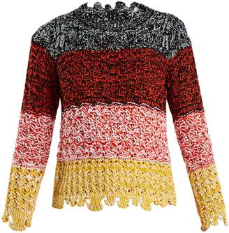 Sonia Rykiel Colour-block textured-knit sweater