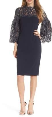 Eliza J Lace Yoke Sheath Dress