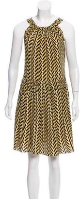 Lanvin Printed Silk Dress
