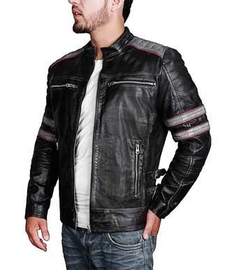 Harley-Davidson The Custom Jacket Jacket Quilted Lining Mens Retro Vintage Style Distress Biker Leather Jacket Motorcycle Costume (M, )