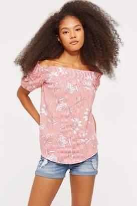 d8e1ed6087e17a Off The Shoulder Top Short Sleeve T Shirt - ShopStyle