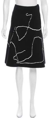 Derek Lam Knee-Length Jacquard Skirt w/ Tags
