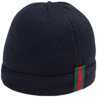 Gucci Kids Children s knitted hat with Web ef6a8154a0b0