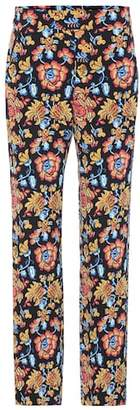Etro Floral-printed silk trousers