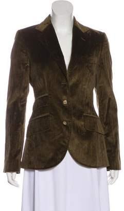 Dolce & Gabbana Velvet Peaked Blazer