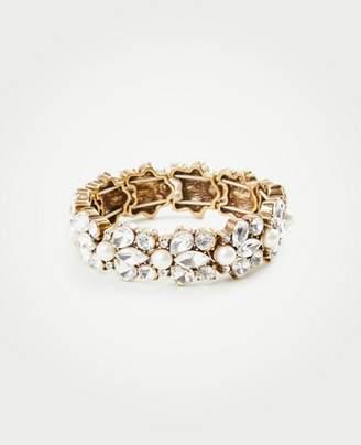 Ann Taylor Crystal Pearlized Stretch Bracelet