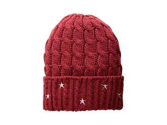 a8783a5c252 San Diego Hat Company KNH3588 Cable Knit Beanie with Star Embroidery