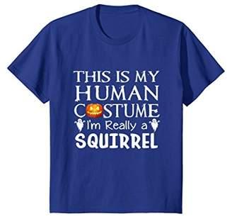 My Human Costume SQUIRREL shirt Gift Halloween Funny