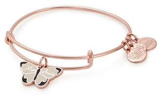 Alex and Ani Mon Ami Butterfly Charm Expandable Wire Bracelet