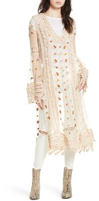 Women's Free People Finest Heart Lace Maxi Tunic $398 thestylecure.com