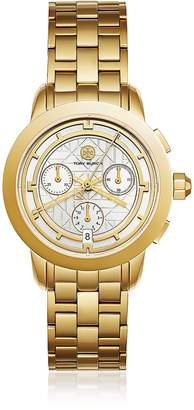 Tory Burch TBW1032 The Tory Gold Tone Chronograph Women's Watch