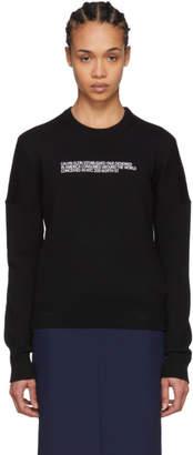 Calvin Klein Black Cashmere Logo Sweater