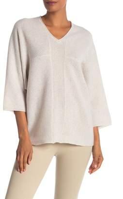 Catherine Malandrino Textured Cashmere V-Neck Sweater
