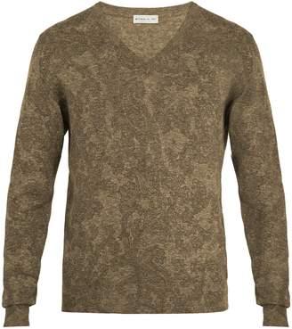 Etro V-neck cotton-blend knit sweater