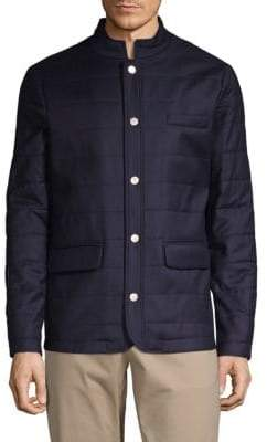 Quilted Wool & Silk Jacket