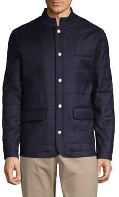 Eleventy Quilted Wool & Silk Jacket