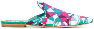 Emilio Pucci printed point-toe mules