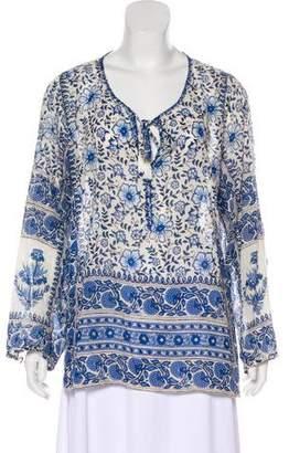 Calypso Long Sleeve Floral Print Tunic
