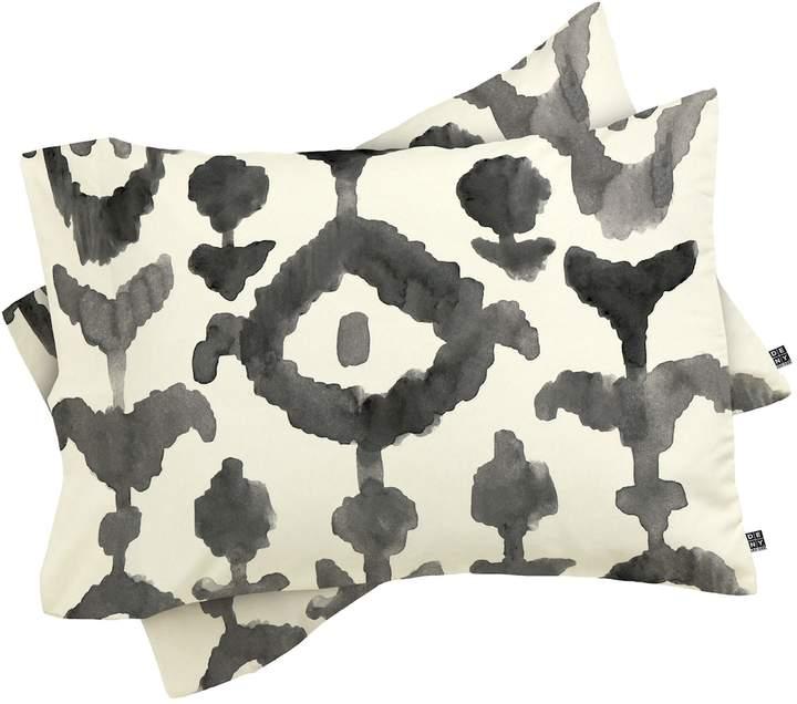Painterly Flower Ikat Pillowcases (Set of 2)
