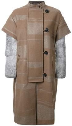 Kolor single breasted coat