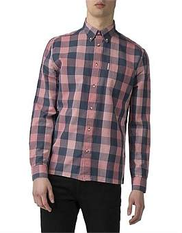 Ben Sherman Ls Linen Slub Buffalo Shirt