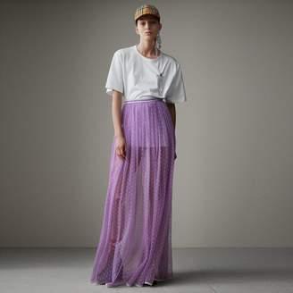 Burberry Floor-length Flocked Cotton Tulle Skirt