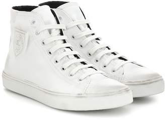 Saint Laurent Bedford leather high-top sneakers