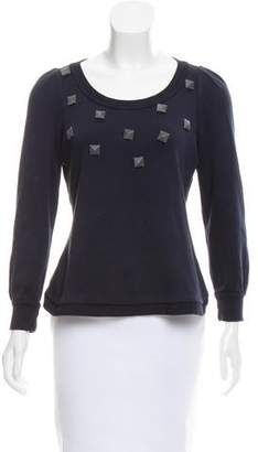 Marc by Marc Jacobs Long Sleeve Embellished Top