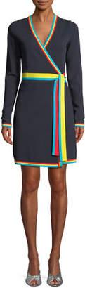 Diane von Furstenberg Long-Sleeve Wrap Sweater Dress