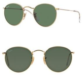 Ray-Ban Round Metal Sunglasses $150 thestylecure.com